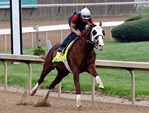 Will Take Charge works at Churchill Downs April 29, 2013.