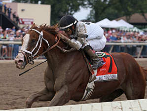 Will Take Charge wins the 2013 Pennsylvania Derby.