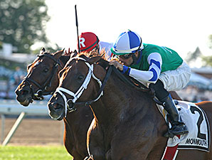 Winning Cause wins the Cliff Hanger Stakes.