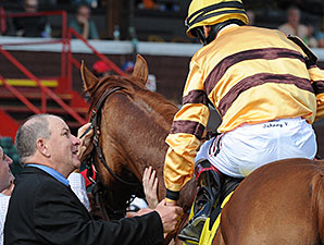 Wise Dan wins the 2014 Bernard Baruch.