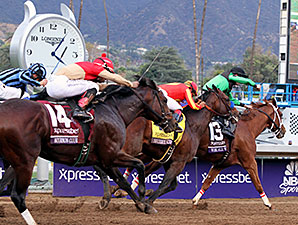 Work All Week wins the 2014 Xpressbet Breeders' Cup Sprint.
