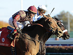Dakota Phone winning the BC Dirt Mile.