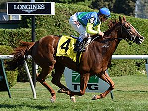 Dayatthespa wins the 2014 Yaddo Stakes.