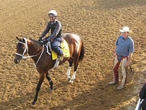 Mark Valeski and Larry Jones at Churchill Downs 4/30/2012