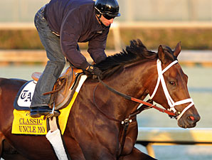 Uncle Mo at Churchill Downs for Breeders' Cup 2011.
